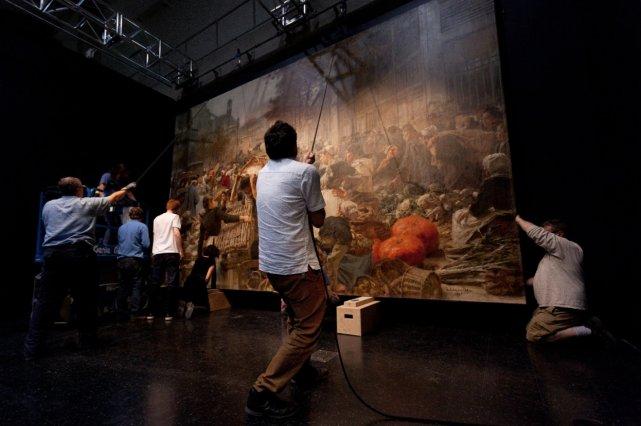 tela de Les Halles, Leon Lhermitte