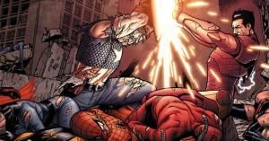 Rogers e Stark em sua batalha final.
