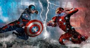 Capitão América e Homem de Ferro em rota de colisão.